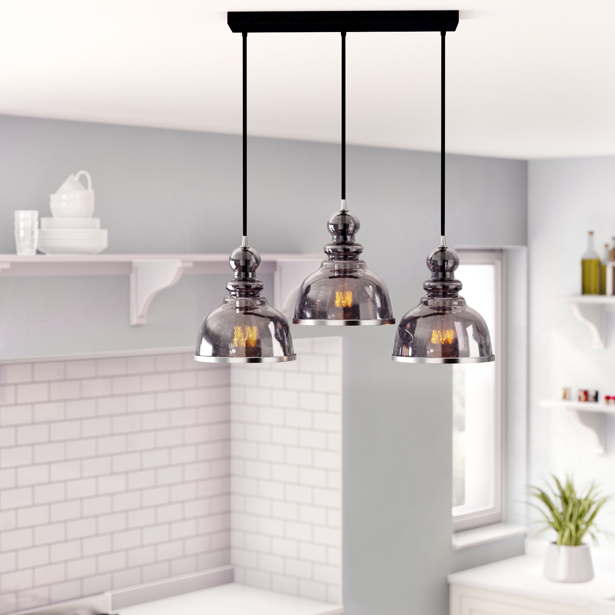 Kaci 3-Light Kitchen Island Pendant