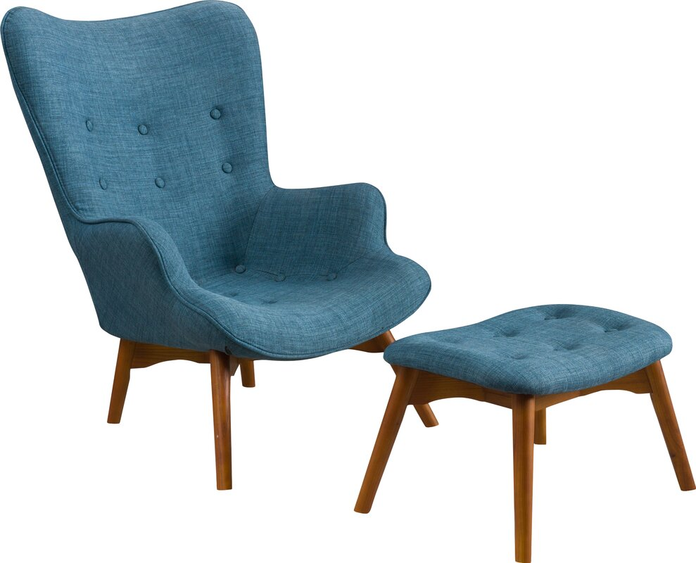Canyon Vista Mid Century Wingback Chair and Ottoman. Mid Century Modern Accent Chairs You ll Love   Wayfair