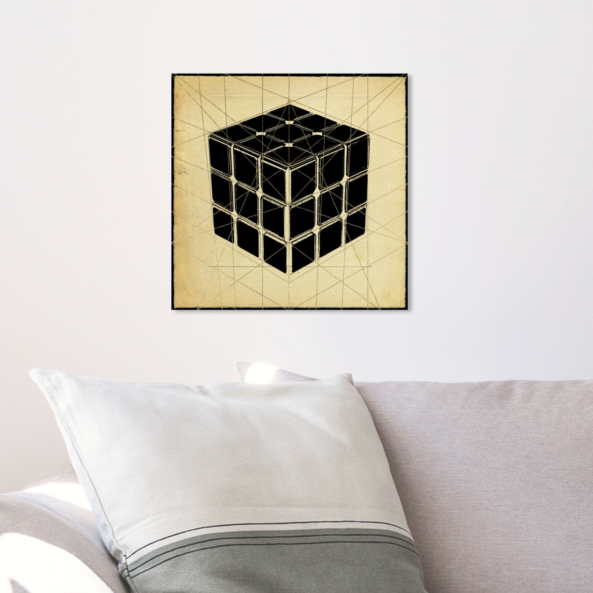 House Of Hampton Cordell Rubiks Cube Print Canvas Art Wayfair