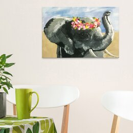 Paintings For Painting Ideas Easy Elephant Kids Wall Art Youll Love