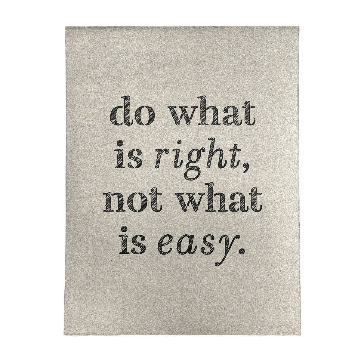 East Urban Home Handwritten Do What Is Right Quote Poly Chenille Rug Wayfair