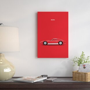 '1969 Lamborghini Miura' Graphic Art Print on Canvas by East Urban Home