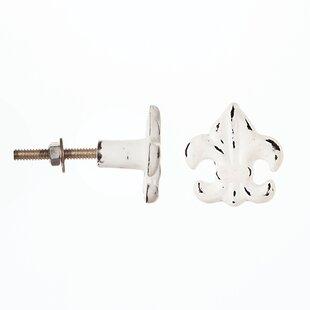 Metal Fleur Delis Round Knob