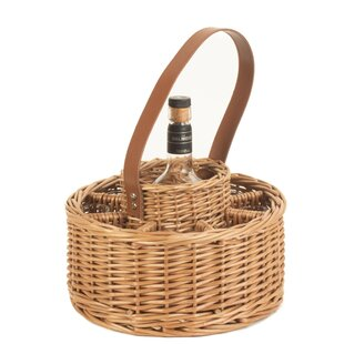 Round Whisky Celebration Picnic Basket By August Grove