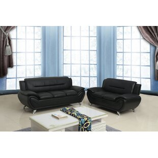 Belmeade 2 Piece Faux Leather Living Room Set by Wrought Studio™