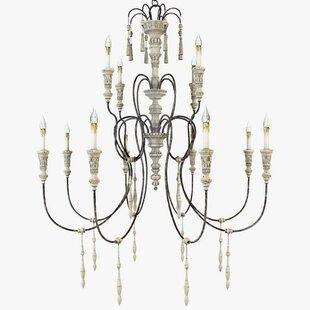 One Allium Way Valeria 12-Light Candle Style Chandelier