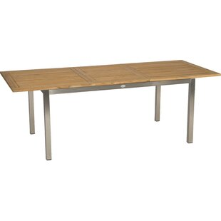 Alica Extendable Stainless Steel Dining Table By Ebern Designs