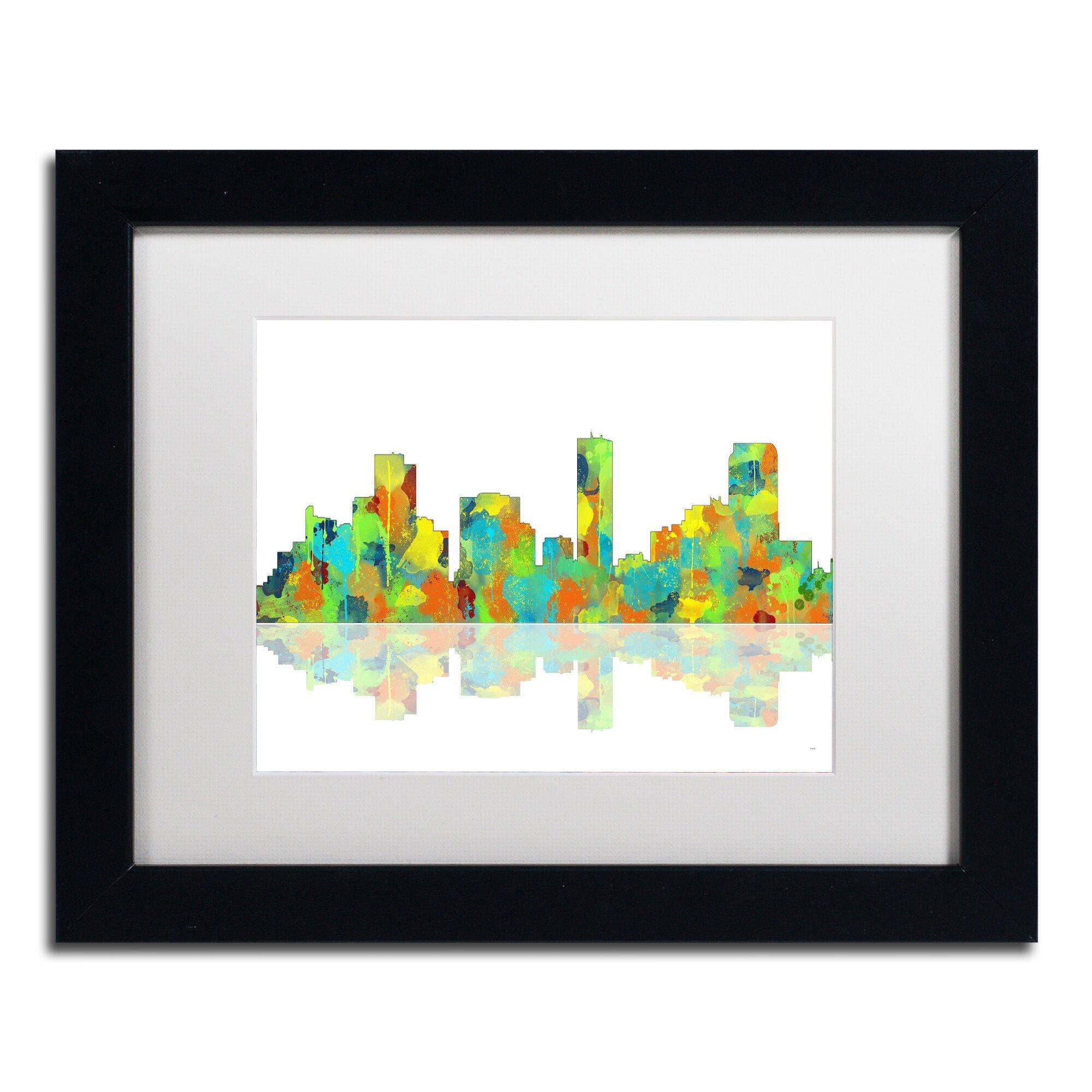 Trademark Art Denver Colorado Skyline Ii Framed Graphic Art On Canvas Wayfair