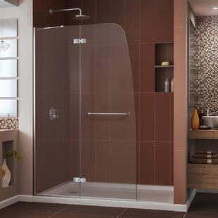 Aqua Ultra 36 in. D x 60 in. W x 74 3/4 in. H Frameless Shower Door by DreamLine