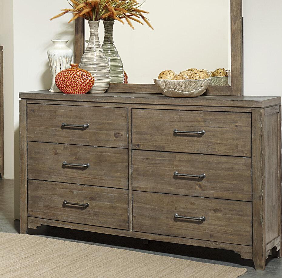 Union Rustic Saucedo 6 Drawer Double Dresser Wayfair