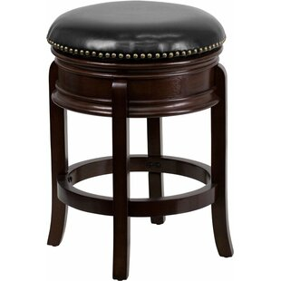 Jenkin 24'' Swivel Bar Stool Charlton Home