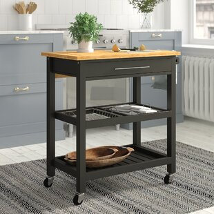 Elsworth Kitchen Trolley With Granite Top By August Grove