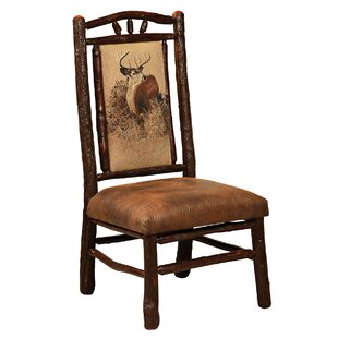 Quevedo Solid Wood Dining Chair Loon Peak
