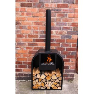 Arno Fireplace Steel Charcoal Wood Burning Outdoor