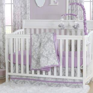 Reviews Damsel Damask 6 Piece Crib Bedding Set ByThe Peanut Shell