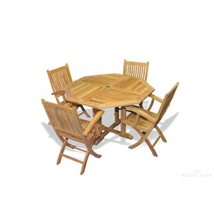 Red Barrel Studio Rossendale 5 Piece Teak Dining Set