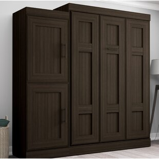 St. Marks Place Murphy Bed with 2-door storage unit by Latitude Run