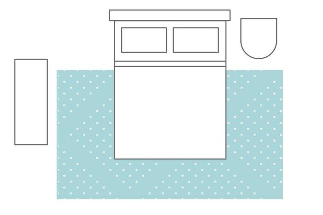 2/3 bed on the rug   Bedroom rug layouts   Wayfair's Ideas & Advice
