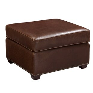Chandler Leather Ottoman by Harbor House