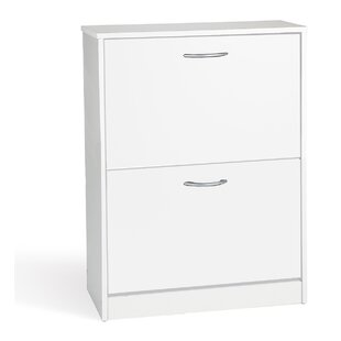 16 Pair Shoe Storage Cabinet By Rebrilliant