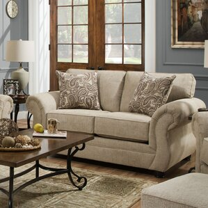 Simmons Vicki Parchment Loveseat by Darby Ho..