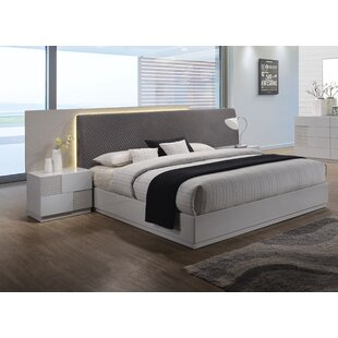 Lyset Upholstered Platform Bed by Latitude Run Bargain
