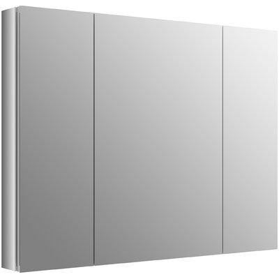 Kohler Aluminum Medicine Cabinet Adjustable Magnifying Mirror Slow Close Door Medicine Cabinets