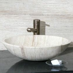 Compare prices Stone Circular Vessel Bathroom Sink By Allstone Group