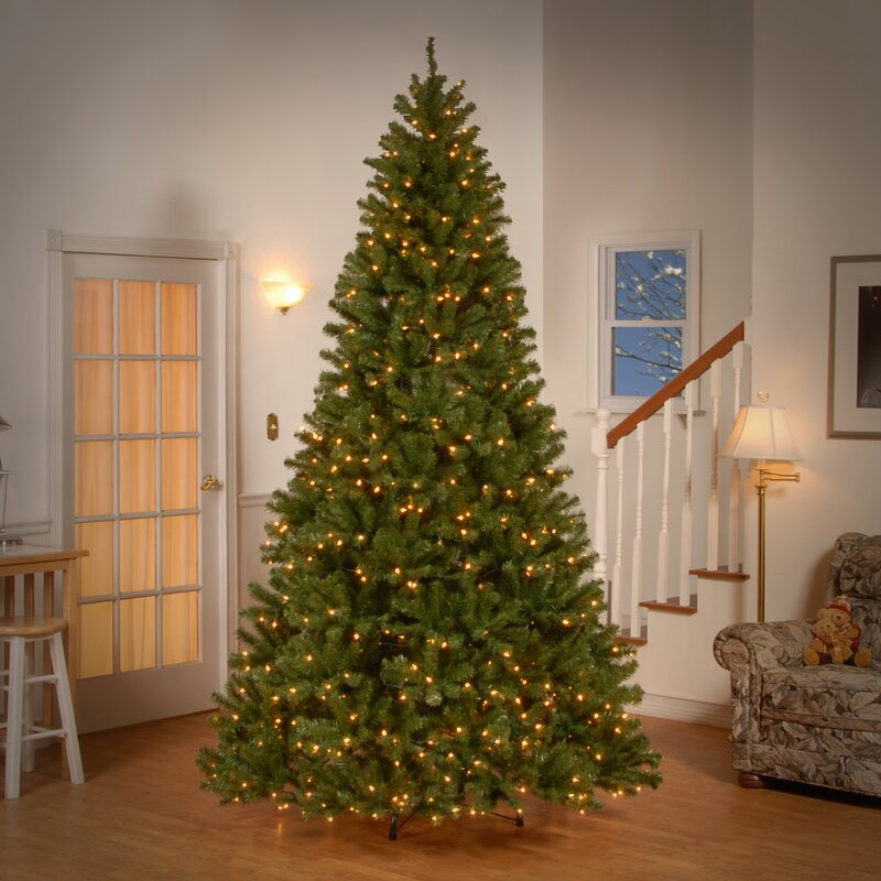 Artificial Christmas Tree With Clear And Colored Lights Part - 26: Spruce Artificial Christmas Tree With Clear Lights