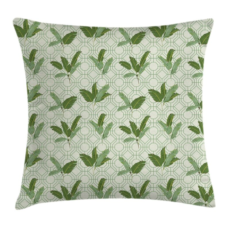 Ambesonne Retro Palm Leaves Geometric Pillow Cover Wayfair