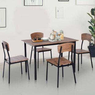 Castellanos Modern 5 Piece Counter Height Dining Set