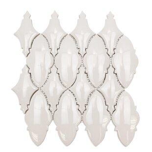 Oracle Valor Random Sized Ceramic Mosaic Tile in Glacier White