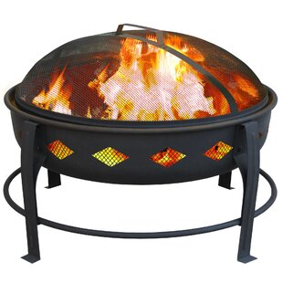 Landmann Bromley Diamond Steel Wood Burning Fire Pit