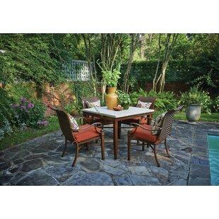 Peak Season Inc. Panama 5 Piece Sunbrella Dining Set with Cushions