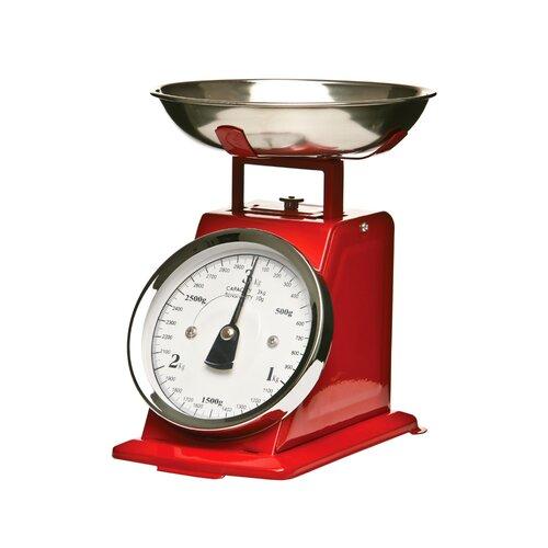 Mechanische Küchenwaage | Küche und Esszimmer > Küchengeräte > Küchenwaagen | Rot | Edelstahl | All Home