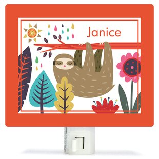 Oopsy Daisy Sleepy Sloth by Irene Chan Personalized Canvas Night Light