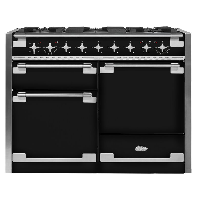 "AGA Elise 48"" Free-Standing Dual Fuel Range  Finish: Gloss Black"