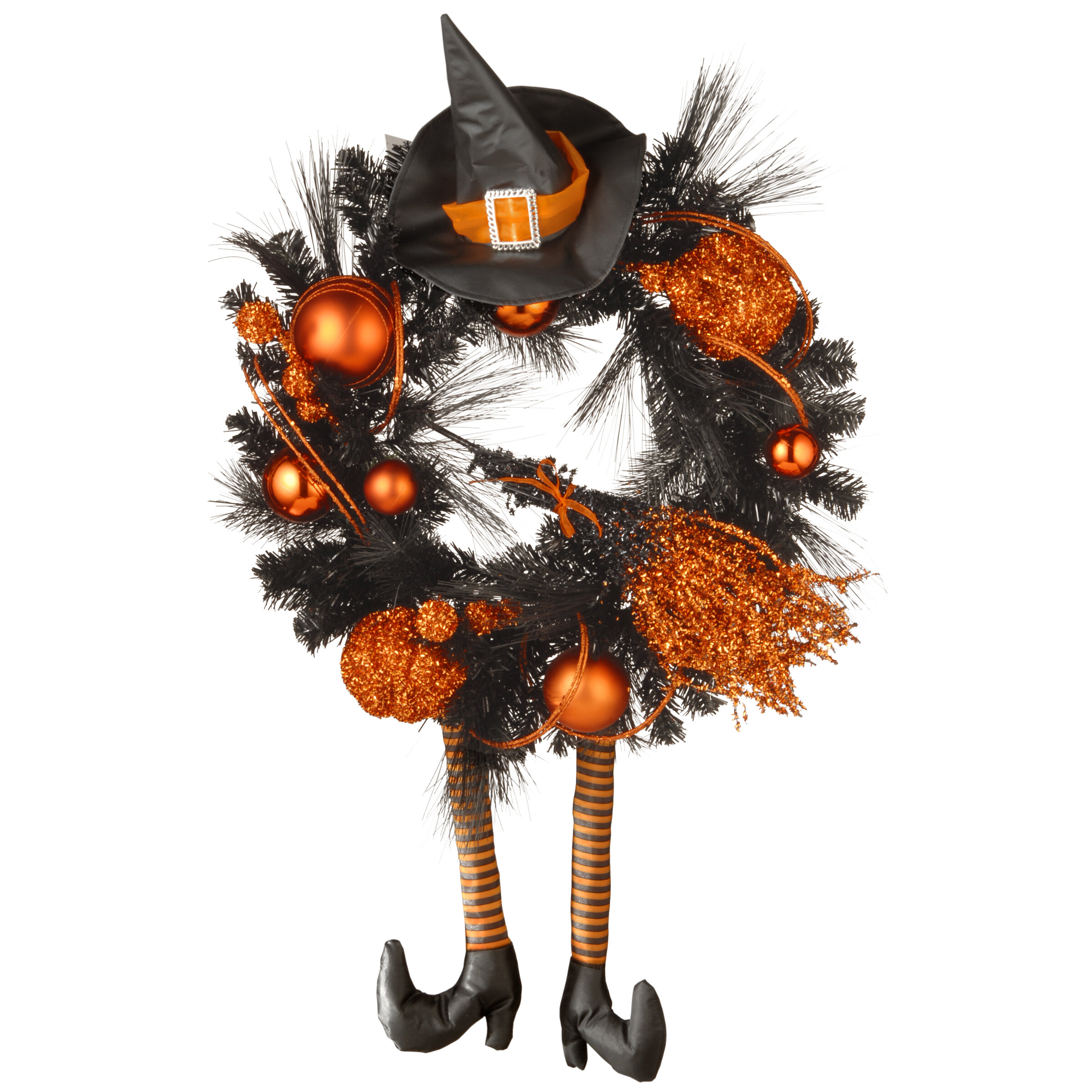 The Holiday Aisle Halloween Witch 24 Wreath Reviews Wayfair