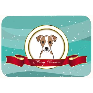 Jack Russell Terrier Merry Christmas Kitchen/Bath Mat
