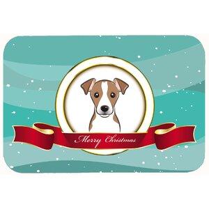 Jack Russell Terrier Merry Christmas Kitchen/Bath Mat