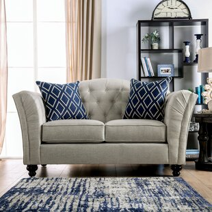 Top Reviews Chau Flared Arms Loveseat by Darby Home Co Reviews (2019) & Buyer's Guide