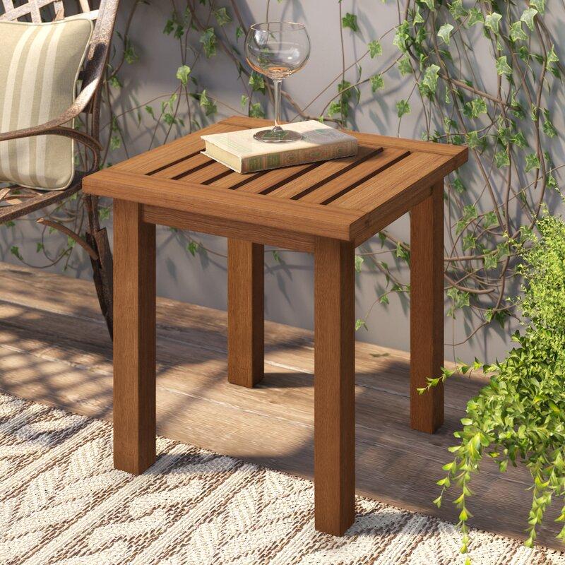 Langley Street Arianna Teak Wooden Side Table Reviews Wayfair