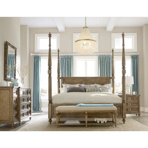 Four Post Canopy Bed four poster bedroom sets you'll love | wayfair