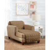 Deep Pile Box Cushion Chaise Lounge Slipcover by Sure Fit