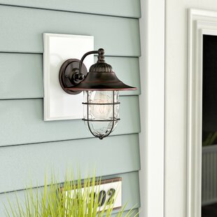 Stanley 1-Light Outdoor Barn Light by Breakwater Bay