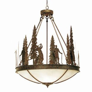 2nd Ave Design Ironwood 5-Light Bowl Pendant