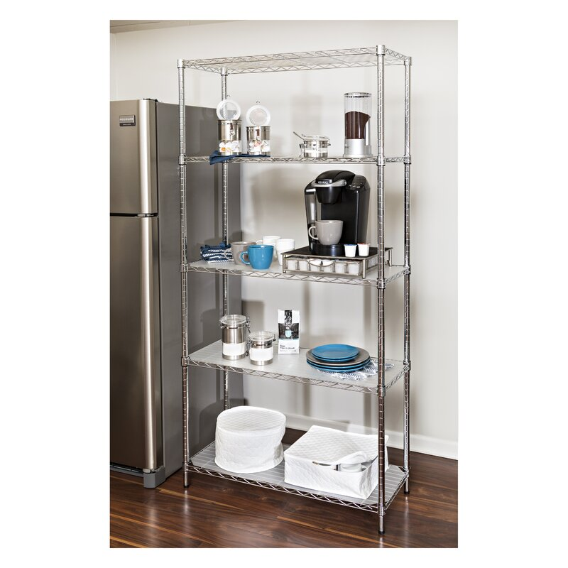 wayfair basics 5 shelf steel shelving unit. Interior Design Ideas. Home Design Ideas