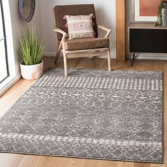 Wrought Studio Brack Geometric Handmade Wool Gray Area Rug Reviews Wayfair