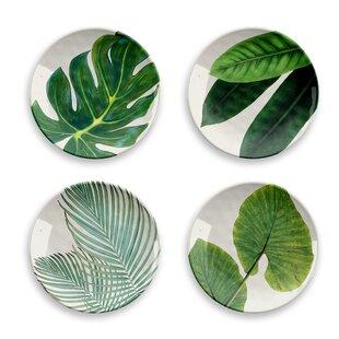 Amazon Floral Melamine Salad Plate Set (Set Of 4) By Tar Hong