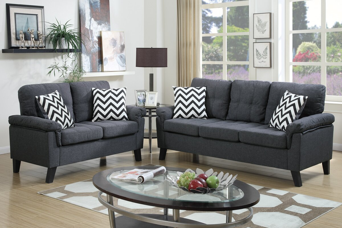 Perfect Zipcode Design Carli 2 Piece Living Room Set Reviews Wayfair